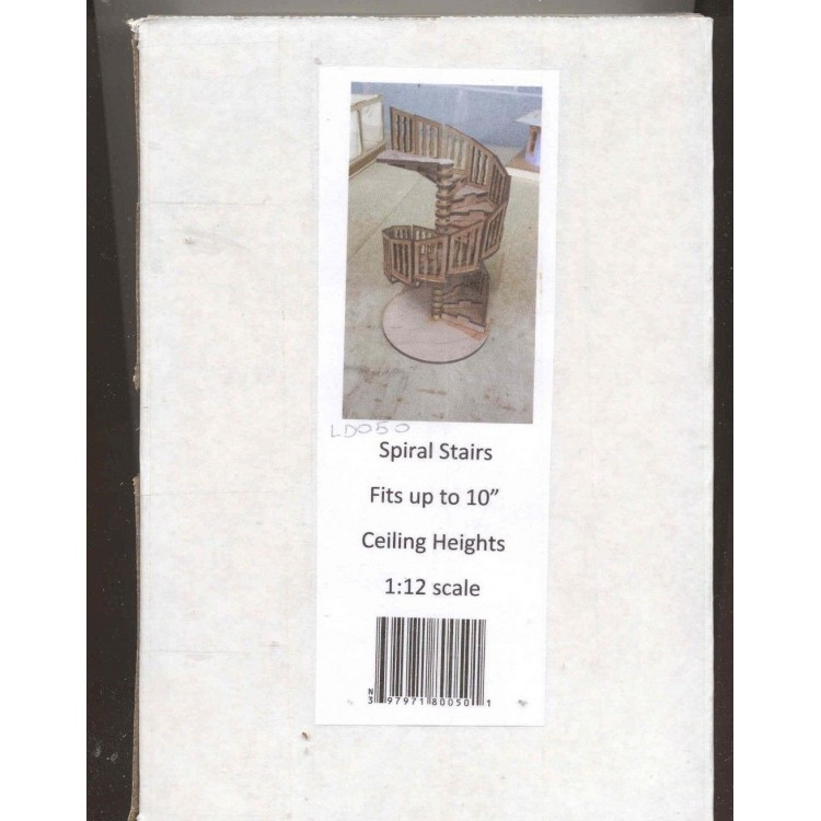 Stair Kit Spiral Ld050 Dollhouse 1 12 Scale Miniature