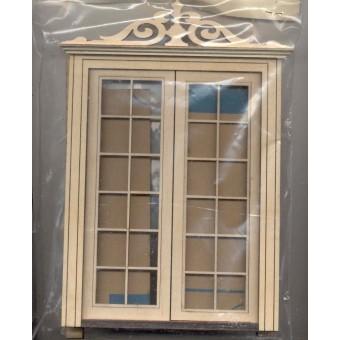 Door - Double Exterior LD802B dollhouse 1/12 scale miniature USA GA  wood