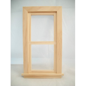 Playscale Double Hung Window 95032 miniature dollhouse wooden1/8 scale