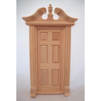 Door Single Deerfield dollhouse miniature wooden #6035 1/12 scale