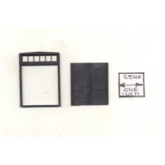 Freight Doors w/ Transom train building parts #3618