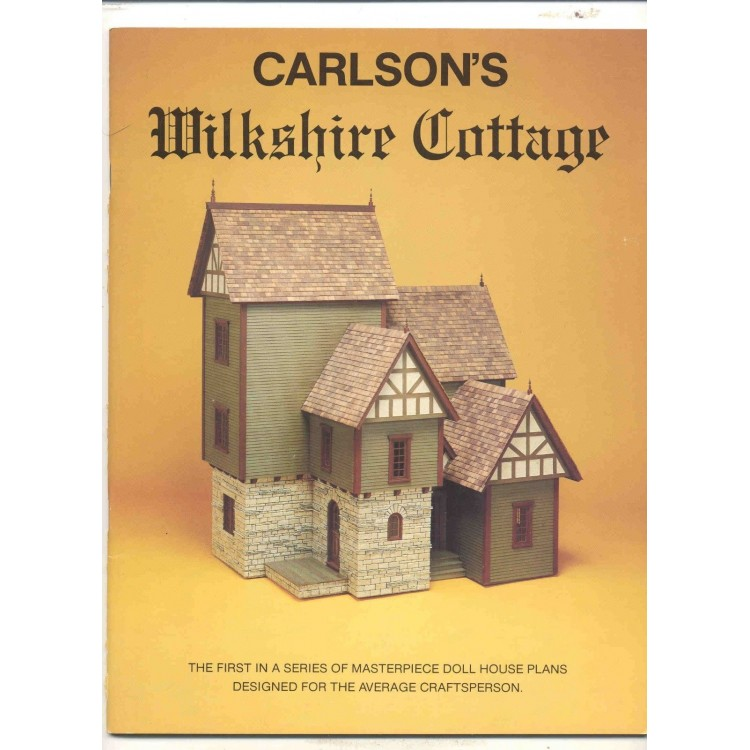 Carlson ACP8467 Wilkshire Cottage dollhouse Plans Book 1//12 scale