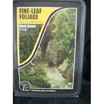 Foliage - Fine Leaf  Dark Green scenery O Scale F1130