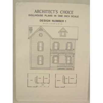 Dollhouse Plans Design #1 Architect's Choice 1:12 Scale