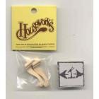 Leg - 12035 Cabriole 1-9/16 furniture wooden miniature 2pc 1/12 scale Houseworks