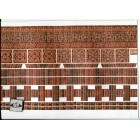 Embossed Dark Brick Ornamental 34980 wallpaper World Model dollhouse 1/12 scale