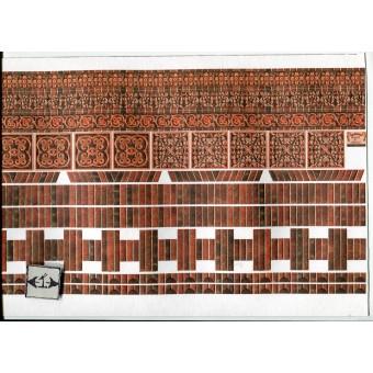 Embossed Dark Brick Ornamental 34980 wallpaper World Model dollhouse 1/12 scale