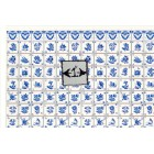 Delft Dutch Wall Tile Sheet  34433 blue dollhouse 1pc World & Model card stock
