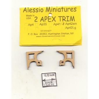 Apex Trim - AP42sm wooden dollhouse miniature 1:12 scale USA made 2pcs