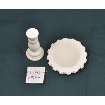 Bird Bath -  UMO1 -  polyresin  1/12 scale  dollhouse miniature
