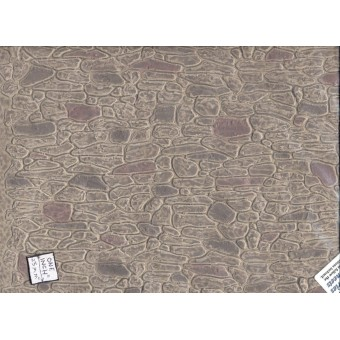 "Fieldstone - Gray miniature 1/12 scale -  Model Builders Supply MBMF102  14""x24"""