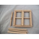 Double Working Window Dollhouse miniature wood #5044 1/12 scale Houseworks
