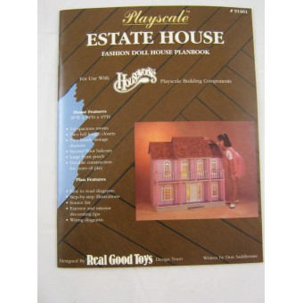 Playscale Estate doll House Plans Book  Houseworks 1/8 1/6 Scale Real Good Toys