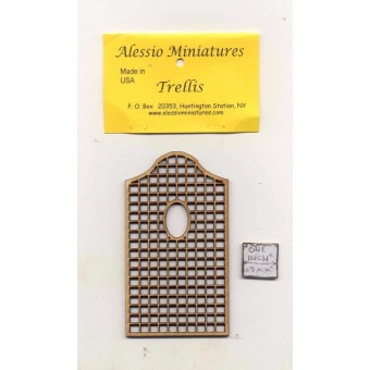 Garden Trellis - TR3 wooden dollhouse miniature 1:12 scale USA made