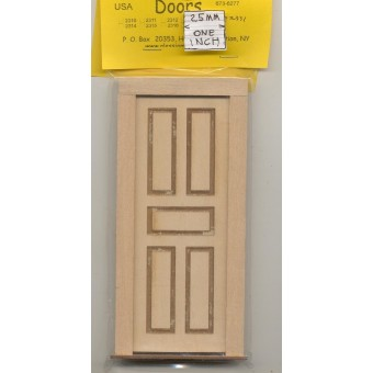 Door - 5 Raised Panel - 2331 wooden dollhouse miniature 1:12 scale Made in USA