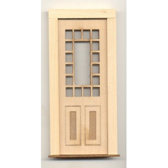 Door - Craftsman 17 Light - 2319 wood dollhouse miniature 1:12 scale Made in USA
