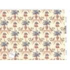 Du Barry 204D2345 minigraphics dollhouse wallpaper 1pc 1/12 scale