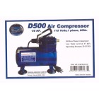 Paasche® Air Brush Compressor - 1/8 H.P. with Auto Shut-off - D500