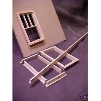 Window & Door Frame Stock supplies Dollhouse trim 3pc  L-shape basswood