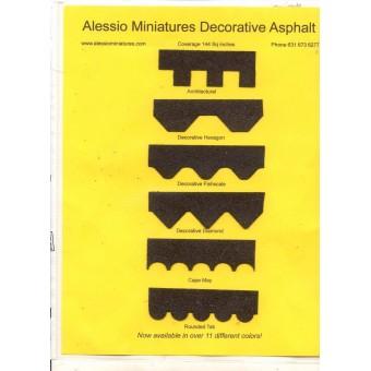 Asphalt Shingles Black Decorative  4001DH miniatures roofing dollhouse USA 1/12