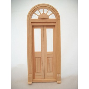 Door -  Palladian Split - Dollhouse miniature wood #6016   1/12 scale Houseworks