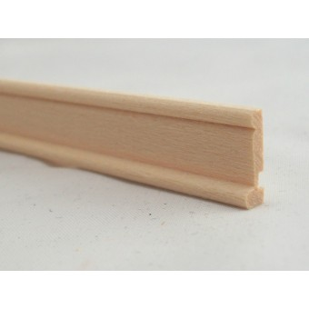 Baseboard w/ Shoe  Molding 7055  dollhouse trim skirtboard   1pc 1/12 scale