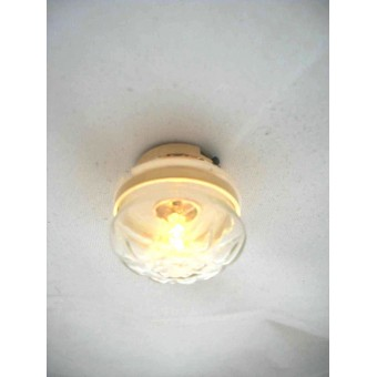 Light - LED Clear  Ceiling Lamp 2339 replaceable battery dollhouse 1/12 scale