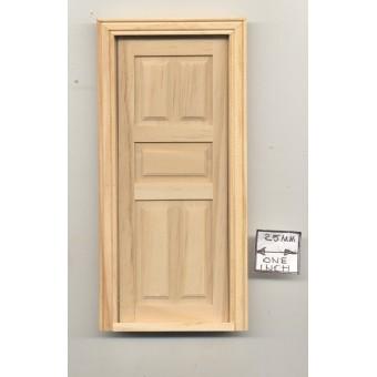 Door - 5-Panel Interior Dollhouse miniature wooden #6008  1/12 Scale Houseworks