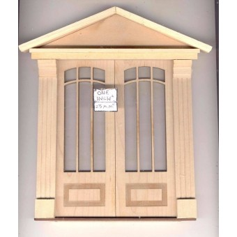 Door - Double Craftsman - 2329DD dollhouse miniature 1:12 scale USA Made
