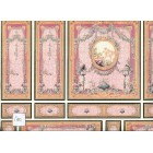 World & Model Relief 34807 Wallpaper Panel dollhouse 1pc  1/12 scale