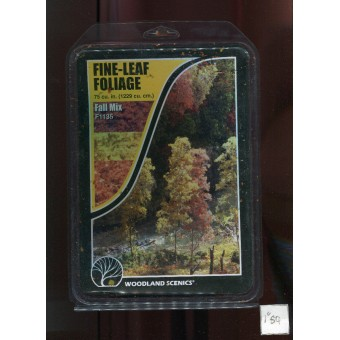 Foliage - Fine Leaf  Fall Mix F1135 scenery O Scale Woodland Scenics