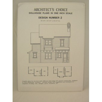 Dollhouse Plans Design #2 Architect's Choice 1:12 Scale blueprint style