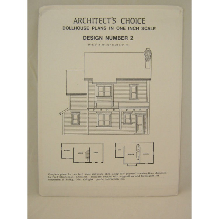 Dollhouse plans design 2 architects choice 112 scale blueprint style malvernweather Gallery