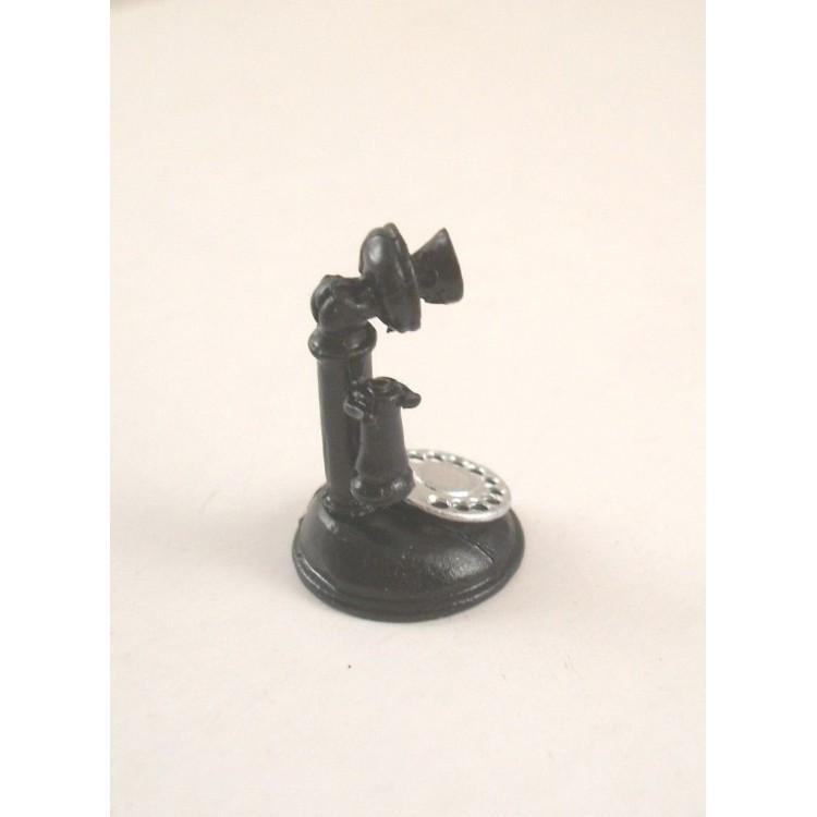 1920s TELEPHONE Black 1//12 scale dollhouse metal miniature ISL2728 Craft Island