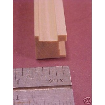 "Corner Post   Dollhouse fits 3/8 plywood  MDF 36"" long"