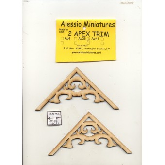 Apex Trim - AP41 wooden dollhouse miniature 1:12 scale USA made 2pcs