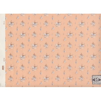Shasta 117D2 peach miniature dollhouse wallpaper 1pc 1/12 scale MiniGraphics