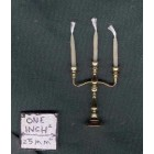 Candelabra 3-Light Brass 2200-110 1/12 scale dollhouse miniature Clare-Bell