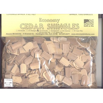Shingles - Fishscale #52 Split Wood 1000pcs 1/12 scale dollhouse made in USA