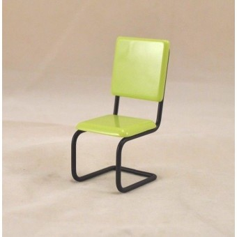 1950s Chair Green T5949  dollhouse miniature furniture metal  1/12 Scale