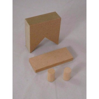 Chimney Kit:- for Gable Roof  Jackson's Miniatures Dollhouse 1/12 scale C01