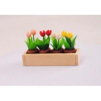 Window Box w/ Flowers - 1/12 scale dollhouse miniature IM69009