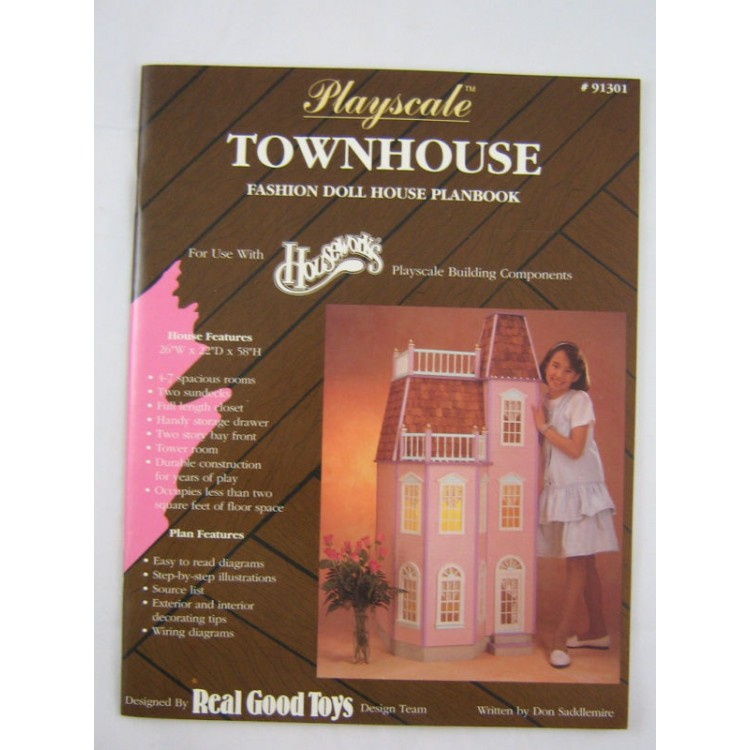 Playscale Townhouse Plans Real Good Toys Fits Barbie Apx 1