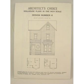 Dollhouse Plans Design #4 Architect's Choice 1:12 Scale