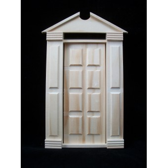 Door - Traditional Americana - Fairy Dollhouse miniature wooden 6004 1/12 Scale