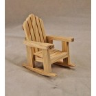 Chair - Adirondack Rocker - unfinished dollhouse miniature T4227 1/12 scale