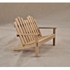 Adirondack Double Chair -  miniature 1/12 scale T4614  unfinished wood