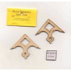 Apex Trim - AP42lg wooden dollhouse miniature 1:12 scale USA made 2pcs