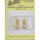 Crystal Door Knob Handles 1/12 scale dollhouse 1142 1 pair  metal Houseworks