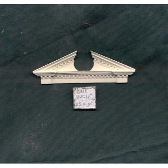Door Pediment / Trim / Header UMT1 -  dollhouse miniatures 1/12 scale polyresin